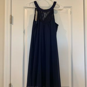 Navy Medium Lace Dress